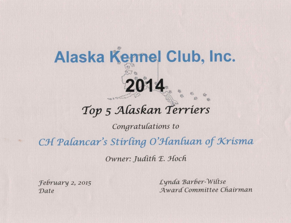 Top 5 Alaskan Terriers 2014