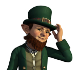 http://www.dreamstime.com/stock-photo-leprechaun-to-tip-his-hat-image28995690
